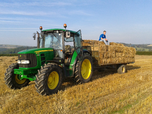 Straw Gathering at Lower Hearson Farm Self Catering Holiday Cottages North Devon