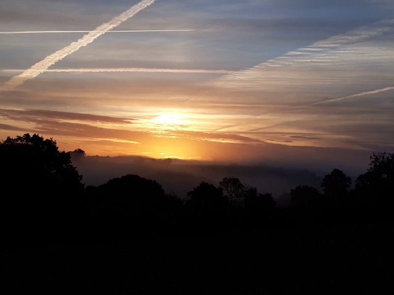 Sunrise at Lower Hearson Farm Self Catering Holiday Cottages North Devon