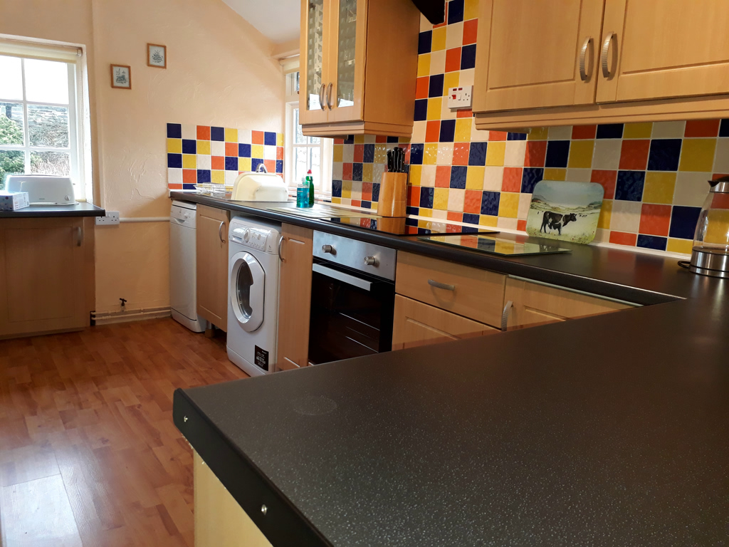 The Shippon Kitchen at Lower Hearson Farm Holiday Cottage North Devon